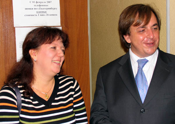 Наталья Уланова и уполномоченный по правам ребенка РФ Алексей Головань