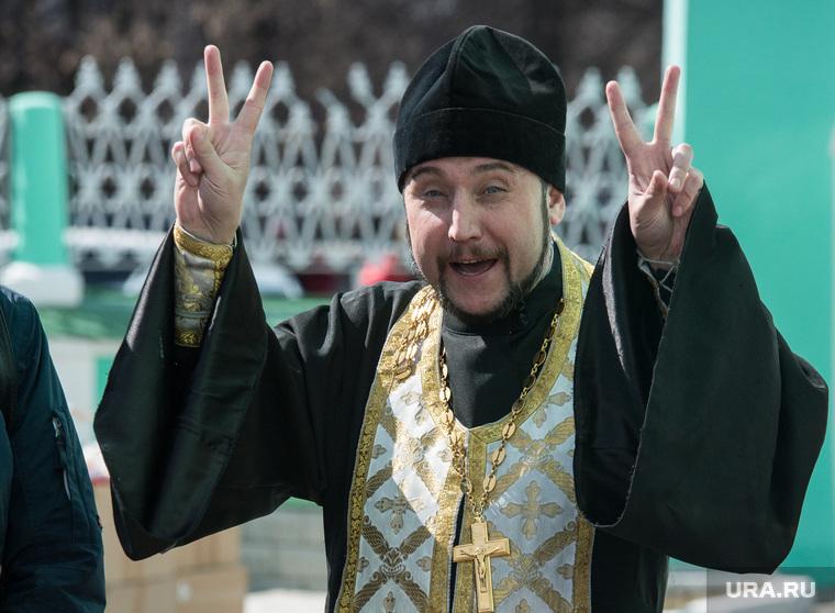 Пермь. Клипарт., пасха, священнослужитель, церковный обряд, проповедь, жест двумя руками