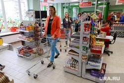 Пятерочка. Супермаркет. Челябинск., корзина, тележка, супермаркет