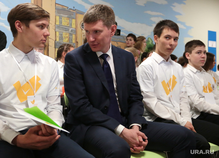 Врио губернатора Решетников в школе Мастерград. Пермь