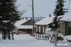 Поселок Пельвож, отдаленный район Салехарда. ЯНАО, зима, деревня, поселок, пельвож