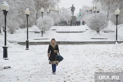 Мартовский снег в Екатеринбурге, снег, сквер, зима, проспект ленина, снег в городе