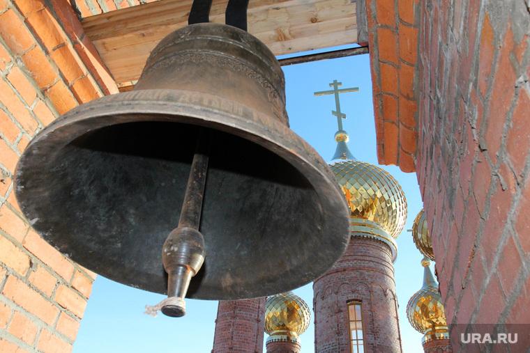 Богоявленский храм Курган, купола храма, колокол