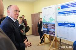 Посещение губернатором Борисом Дубровским площадки строящейся школы в микрорайоне Парковый. Челябинск, дубровский борис