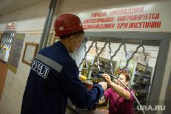 Поездка Евгения Куйвашева в Североуральск: шахта Черемуховская-Глубокая и вручение ключей, ламповая, шахтер