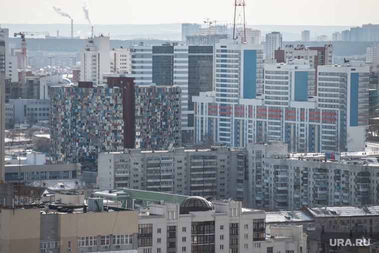 Екатеринбург с крыши здания правительства СО, бц аврора