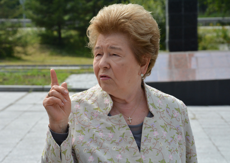 Наина Ельцина на мемориале репрессированным и Европе Азии, ельцина наина