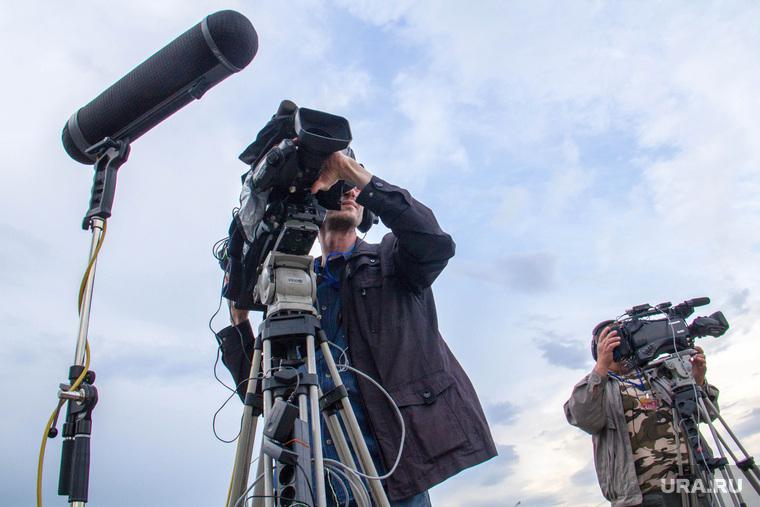 День металлурга. Магнитогорск, микрофон, операторы, съемка, телевидение, камеры