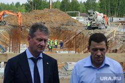 Рабочая поездка врио губернатора Свердловской области Евгения Куйвашева в Красноуральск, козицын андрей, куйвашев евгений, котлован, строительная площадка, строительство