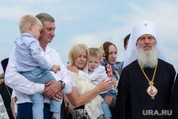 Патриарх Кирилл в Кургане на церемонии освящения закладного камня Троицкого храма, муратов сергей