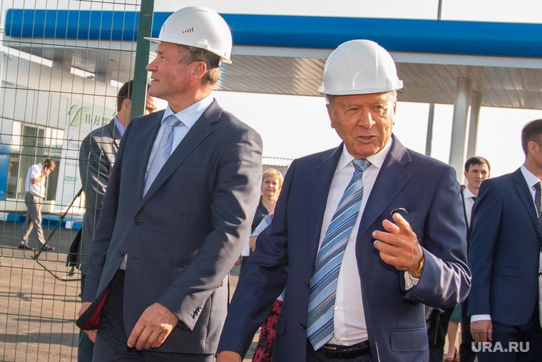 Открытие газовой заправки Газпрома при участии председателя совета директоров Виктора Зубкова. Курган, зубков виктор, кокорин алексей