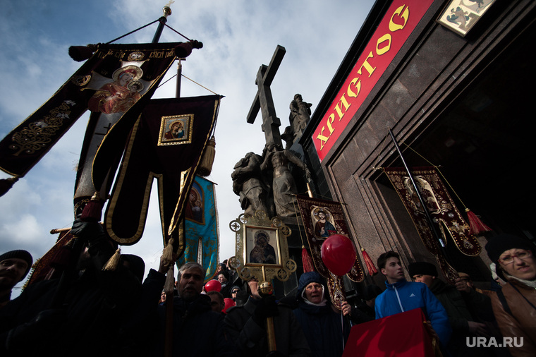 Пасхальный крестный ход в Екатеринбурге, иконы, пасха, крестный ход, христос