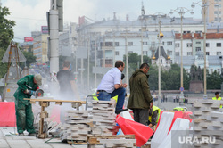 Виды Екатеринбурга, рабочие, пилит, площадь1905 года