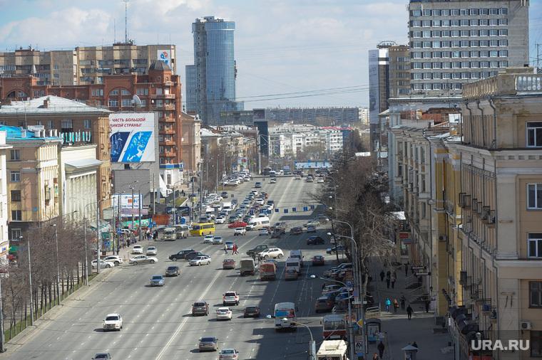 Челябинск сверху, челябинск, проспект ленина
