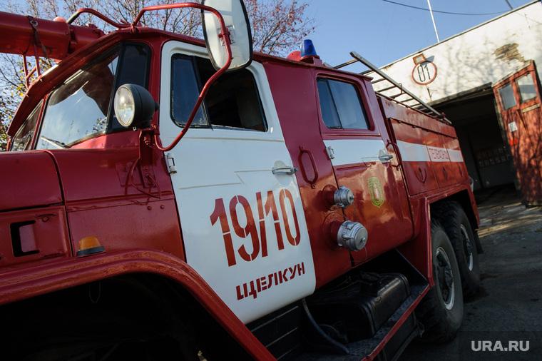 Виды города Сысерть и посёлка Щелкун. Свердловская область, пожарная машина, пожарная часть щелкун