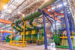 Северский трубный завод: общий вид, цеха, печи, очистные сооружения, сухая и мокрая газоочистка непрерывного стана