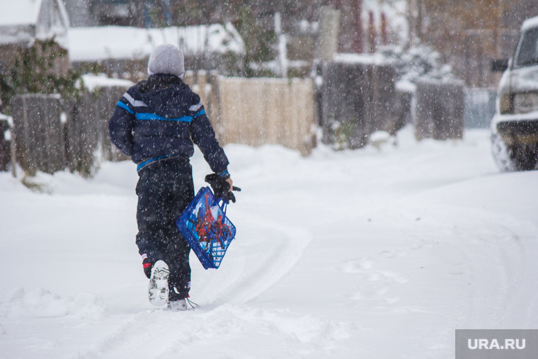 Деревяшки. Нижневартовск., зима, мороз, школьник, заморозки, метель, снегопад