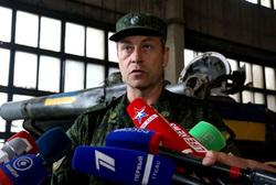 Украинский танк несет боевое дежурство в Донецке, басурин эдуард