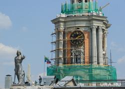 Виды Екатеринбурга, администрация екатеринбурга, башня с часами, реставрация здания, екатеринбург, ремонтные работы