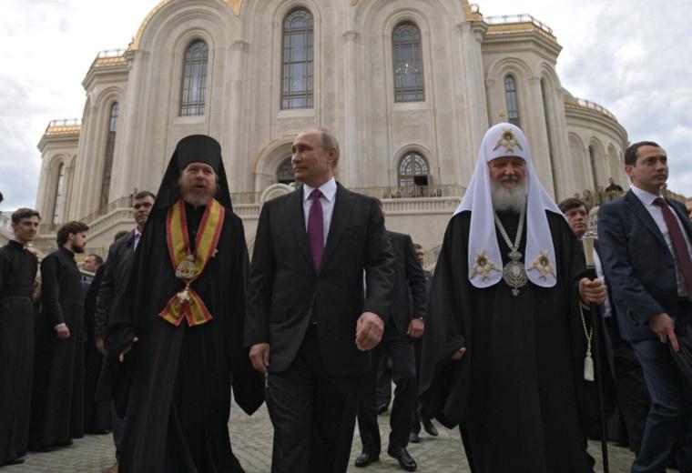 Патриарх Кирилл открыл Архиерейский храм РПЦ в столице