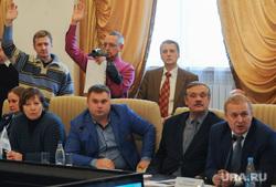 Заседание  рабочей группы Общественной палаты по  вопросу строительства Томинского ГОК. Челябинск, голосование, московец василий