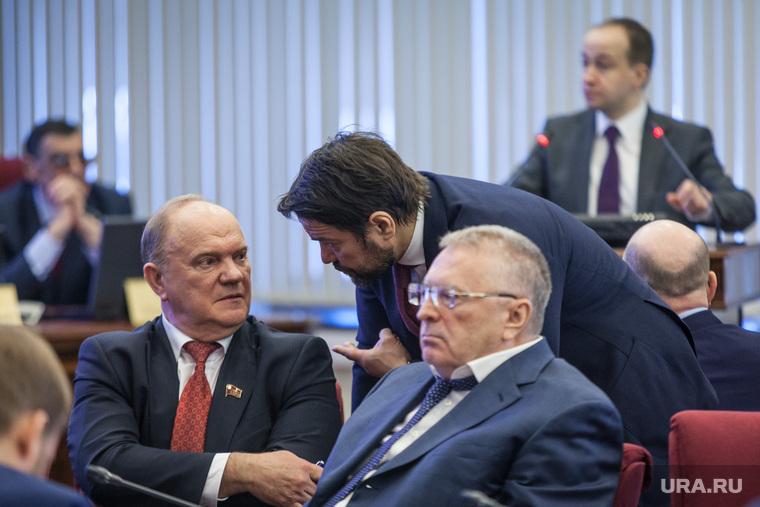 Первое заседание ЦИК в новом составе. Москва, жириновский владимир, зюганов геннадий