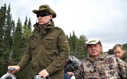 Отпуск Владимира Путина в Тыве, путин владимир, шойгу сергей, отпуск, река, рыбалка