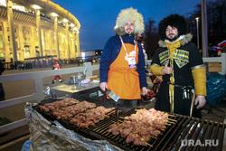 День народного единства. Москва, стадион, национальные костюмы, шашлыки, кавказцы, лужники, лоток, уличная торговля, джигиты