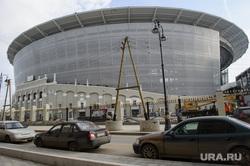 Строительство Екатеринбург-Арены, временная трибуна. Екатеринбург, центральный стадион, екатеринбург-арена