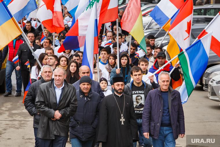 Шествие посвященное столетию геноцида армян. Екатеринбург, шествие