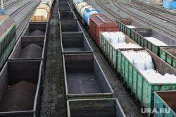 Железнодорожная станция, горка и вокзал. РЖД. Челябинск, поезд, вагон, грузовой поезд, сырье для металлургии