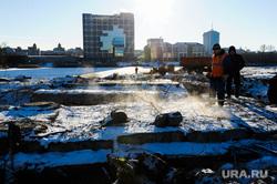 Начало строительства конгресс-холла  к ШОС. Челябинск, пар, канализация, жкх, набережная реки миасс, повв, испарения