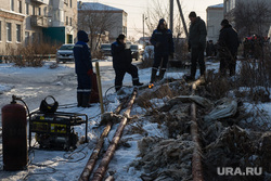 Коммунальная авария в посёлке Мартюш. Свердловская область, коммунальная авария, трубы, теплотрасса, отопление, поселок мартюш