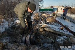 Коммунальная авария в посёлке Мартюш. Свердловская область, коммунальная авария, трубы, теплотрасса, отопление