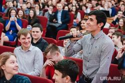 Юлия Михалкова на встрече со студентами в Верхней Пышме. Екатеринбург