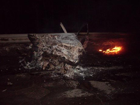 Страшная авария на трассе Пермь - Екатеринбург. Автомобили столкнулись и загорелись. Погибли четыре (!) человека