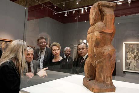 Первая леди России побывала на выставке одного из самых дорогих художников XX века
