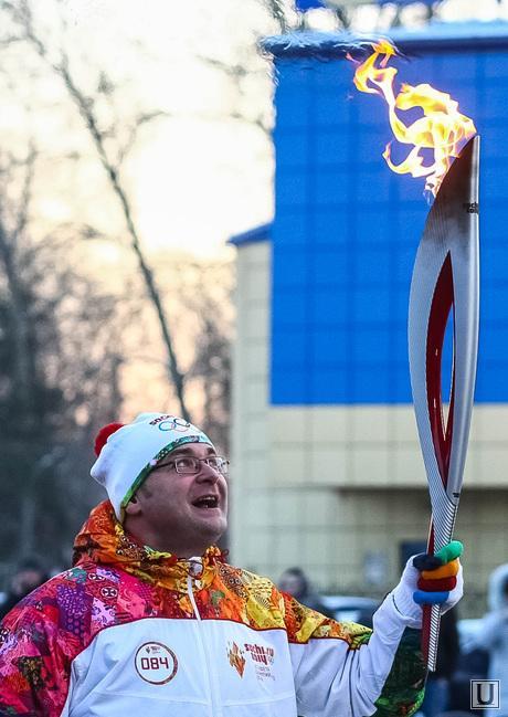 Эстафета олимпийского огня. Тюмень