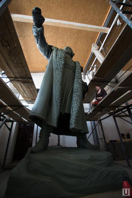 Скульптура Тимофея Невежина для Кургана. Литейная мастерская Дубровина. Екатеринбург, памятник, невежин тимофей, скульптура