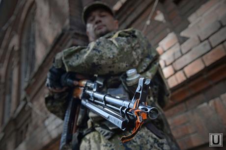 Украина. Славянск, ополчение, бойцы