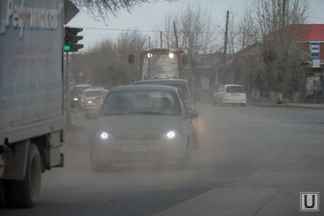 Поездка в Каменск-Уральский. Осмотр дорог города, чистоты улиц и т.д., пыль в городе