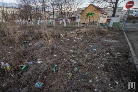 Поездка в Каменск-Уральский. Осмотр дорог города, чистоты улиц и т.д., мусор