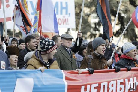 Митинг в Челябинске в поддержку русскоязычного населения Крыма, митинг дубровский