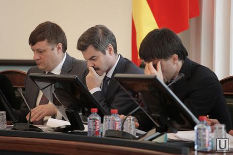 Дубровский с главами городов и районов, 12 февраля 2014 Челябинск, вице-губернаторы Челябинск