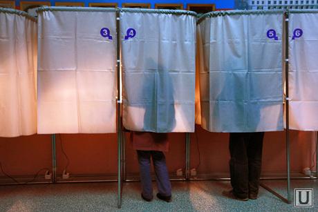 Выборы в Екатеринбурге, выборы в гордуму, кабинка для голосования