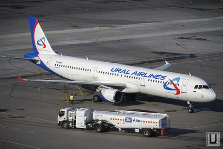 Споттинг в Кольцово, самолет, авиа, уральские авиалинии