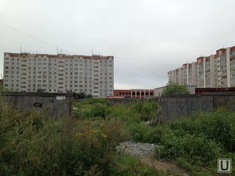 Строительство жилого дома на бульваре Солнечном в Кургане., бульвар солнечный, строительство солнечный