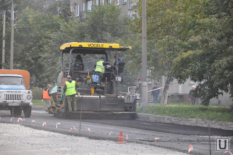 Ремонт дорог Курган. Сентябрь 2014 года , ремонт дорог курган, улица дзержинского