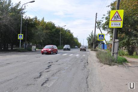 Ремонт дорог Курган. Сентябрь 2014 года , ремонт дорог курган, улица гвардейская