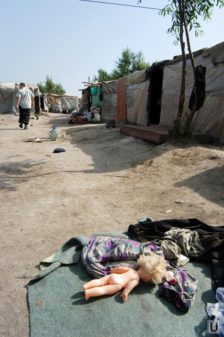 Свалка. Челябинск., поселок таджиков на свалке